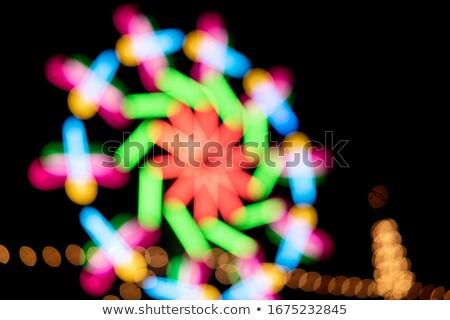 Efeitos de luz noite país feira luz acelerar Foto stock © meinzahn
