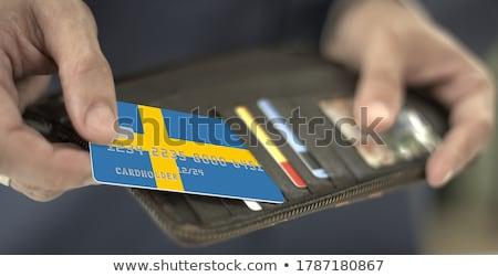 ビジネスマン 名刺 スウェーデン フラグ 国際 ストックフォト © stevanovicigor