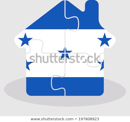 house home icon with Honduras flag in puzzle Stock photo © Istanbul2009