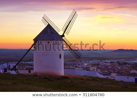 Vintage windmills in La Mancha. Stock photo © kasto