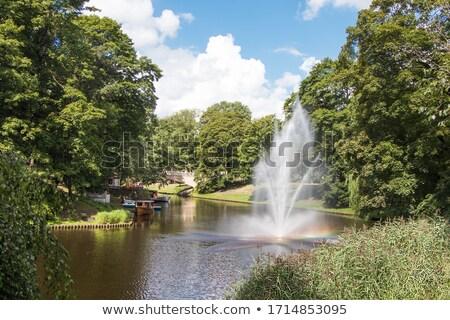 arco-íris · gota · de · água · textura · céu · água · abstrato - foto stock © amok