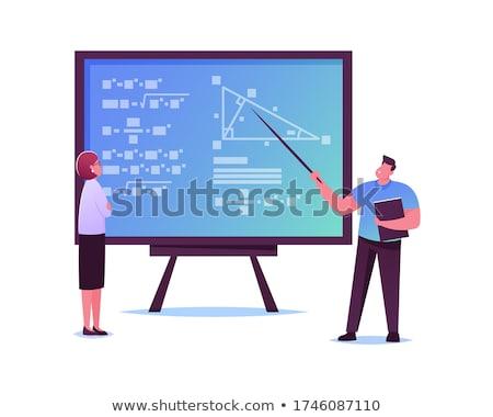 Pokładzie chemia szkoły tablicy kredy Zdjęcia stock © romvo