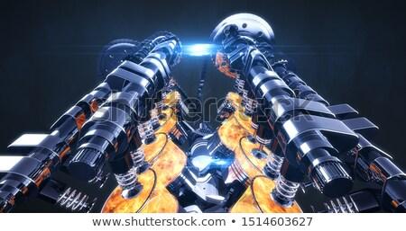 dugattyú · ipari · gép · acél · szerszám · kar - stock fotó © flipfine