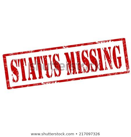 Status Missing-stamp Stock photo © carmen2011