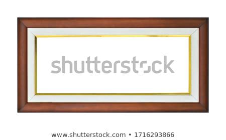 長方形の 金箔 フレーム 木製 孤立した 白 ストックフォト © smuki