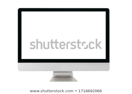 Computer screen isolated on white background Stock photo © alexmillos