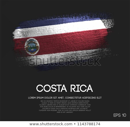 Коста-Рика · Гранж · флаг · старые · Vintage · гранж · текстур - Сток-фото © tintin75