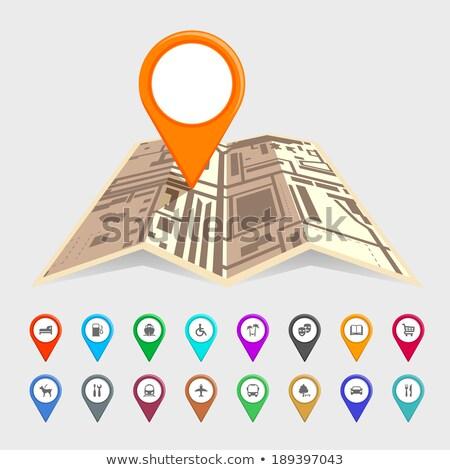 Gehandicapten icon kaart geneeskunde witte wiel Stockfoto © aliaksandra