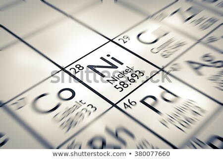Periodic Table of the element. Nickel, Ni Stock photo © m_pavlov