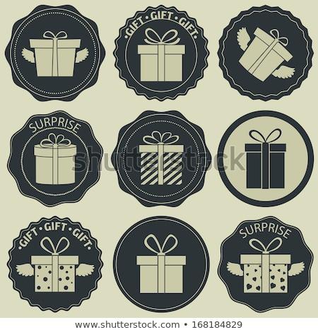 Photo stock: Noël · présents · boîte · eps · blanche · flocons · de · neige