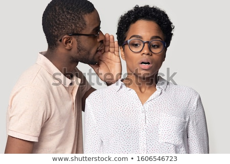 Whispering and stunned Stock photo © tilo