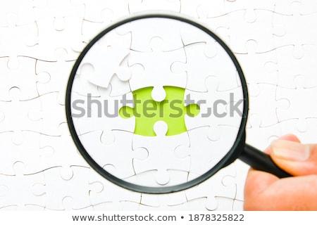 Pension on Green Puzzle. Stock photo © tashatuvango