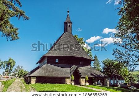 христианской · храма · силуэта · Восход · крест · Церкви - Сток-фото © oleksandro