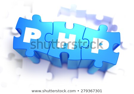 PHP - Text on Blue Puzzles. Stock photo © tashatuvango