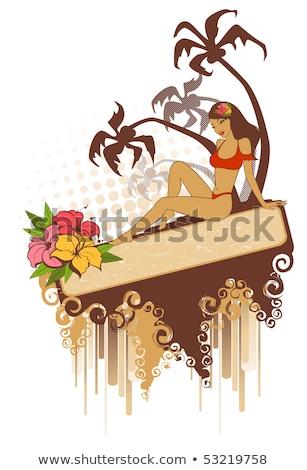 pin · para · cima · verão · menina · sexy · girl · mulheres - foto stock © carodi