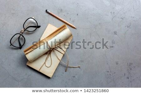 Negócio diário óculos branco trabalhar tempo Foto stock © mizar_21984