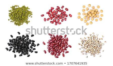 бобов органический сушат белый продовольствие фон Сток-фото © szefei