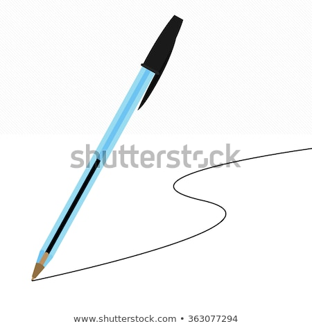 White with green ball-point pen Stock photo © vtls