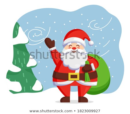Santas red bag standing alone Stock photo © wavebreak_media