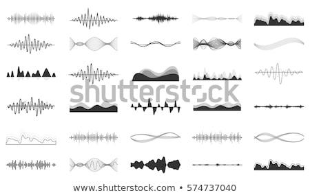 Сток-фото: вектора · звук · волны · набор · белый · музыку