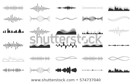 Foto stock: Vetor · soar · ondas · conjunto · branco · música