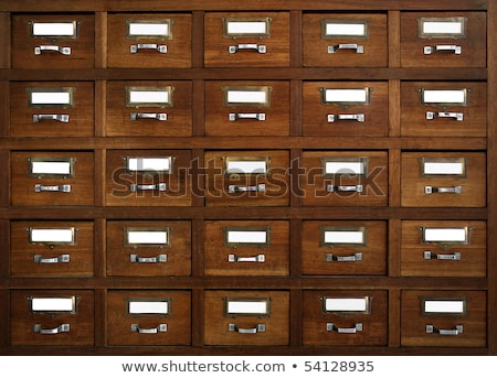 a drawer cabinet with the label bank stock photo © zerbor