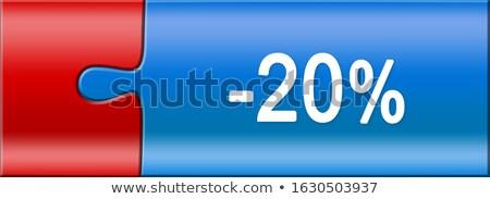 Web 20 puzzel Blauw puzzelstukjes communicatie Stockfoto © fuzzbones0