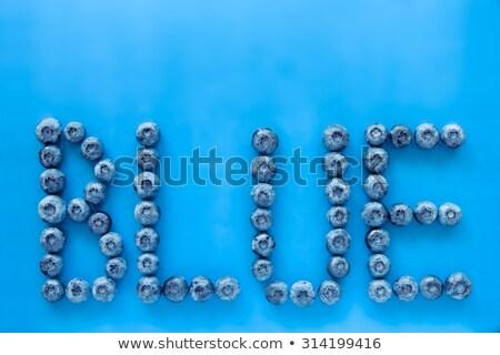 Yaban mersini renkli mavi harfler yazım can Stok fotoğraf © jaffarali