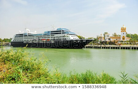 Cruising the Guadalquivir Stock photo © rmbarricarte