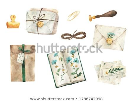 Velho natal cartões postais República Checa escritório papel Foto stock © jarin13