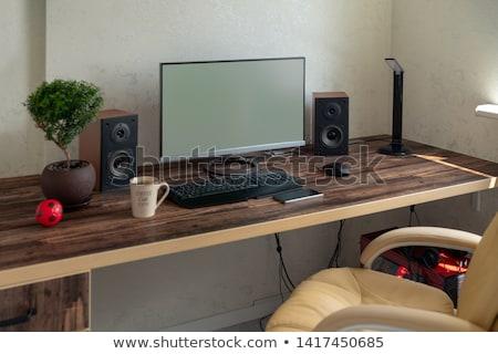 Stock fotó: Számítógép · hangfalak · fehér · technológia · csoport · hang