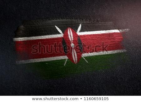 zászló · Kenya · kéz · szín · vidék · stílus - stock fotó © tony4urban