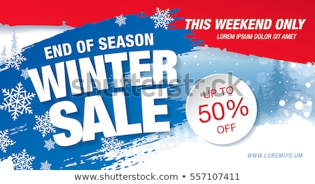 winter sale and offer with snowflake sign Stock photo © marinini
