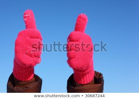 kéz · szám · öt · férfi · kézmozdulat · izolált - stock fotó © paha_l