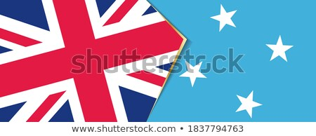 Regno Unito Micronesia bandiere puzzle isolato bianco Foto d'archivio © Istanbul2009