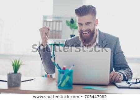 Fiatal üzletember egy nő férfiak kollázs üzlet Stock fotó © Paha_L