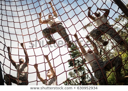 Soldiers in Military Training Stock photo © artisticco