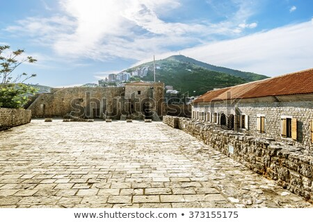 Panorama of Budva, streets Old town. Montenegro Stock photo © vlad_star