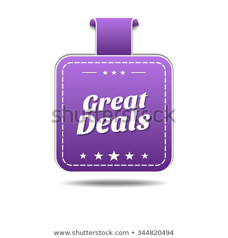 Great Deals Violet Vector Icon Design Stock photo © rizwanali3d