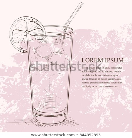 Cocktail Long Island Iced Tea scetch Stock photo © netkov1