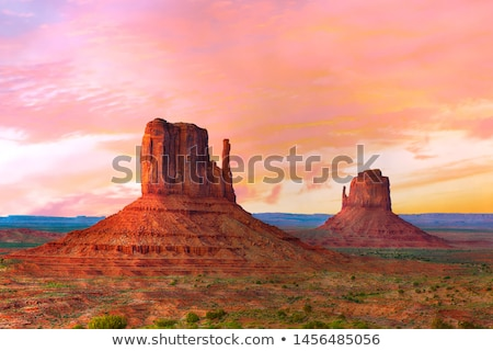 WEst Mittens Butte in the Monument valley Stock photo © meinzahn
