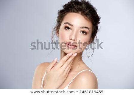close-up of beautiful woman lips Stock photo © stryjek