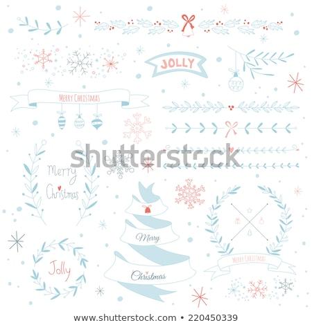 Сток-фото: Christmas Border Set Eps 10