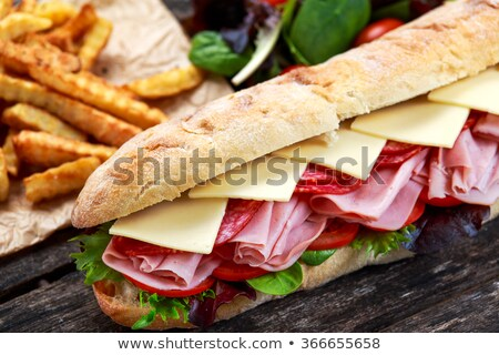 Cheese and hum slices Stock photo © simply