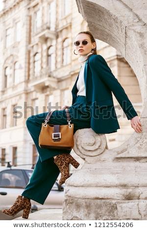 Femme d'affaires bleu blazer illustration blanche bureau Photo stock © bluering
