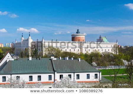 lublin old town panorama poland vintage stock photo © photocreo