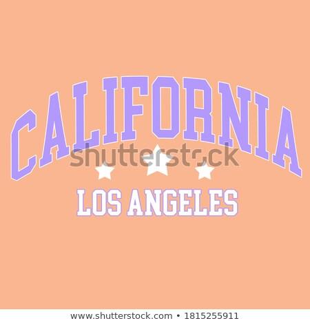 Los Angeles vetor arte ilustração abstrato assinar Foto stock © vector1st