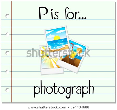 Flashcard letter P is for photograph Stock photo © bluering