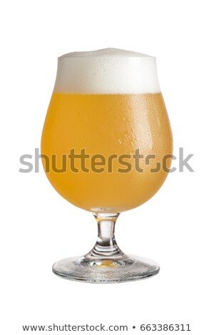 Wheat beer glass on a white background Stock photo © Zerbor