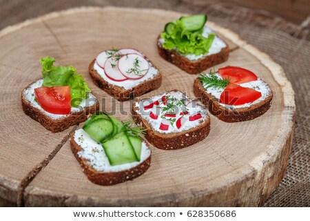 segurelha · alface · folhas · pinho · nozes · comida - foto stock © digifoodstock